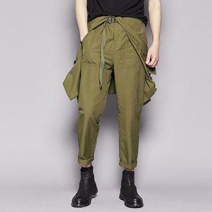 Jumpsuit Men Rompers One Piece Overalls Cotton Mens Runway Pockets Designer Short Sleeve Casual Fashion Hip Hop Pants Plus Size