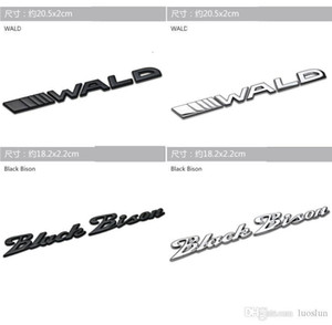 Applicable to Mercedes car stickers wald black bison car tail word mark Modified limit Bison car logo