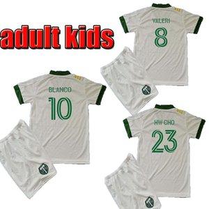 2020 2021 MLS KIDS Portland Timbers white men kids soccer jerseys 20 21 MLS BLANCO CHARA VALENTIN VALERI adult child kit football Shirts