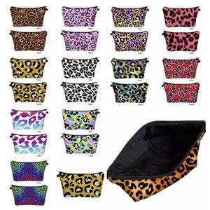 Leopard drucken Kosmetikbeutel Reisen beweglichen Geldbeutel-Speicher-Beutel Digital Printing Makeup Handtaschen-Organisatoren Spielraum-Beutel-Wäsche Taschen BWF619