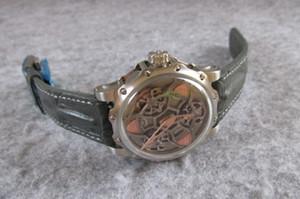 높은 품질의 시계 45 미리 메터 ANTOINE 다이아몬드 스테인레스 스틸 자동 운동 남성 시계 남성 손목 시계 방수 PREZIUSO