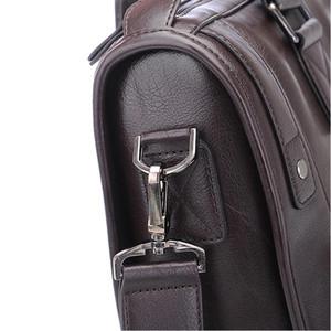 Tasarımcı-İş Deri Crossbody Laptop Çanta Evrak çantası Erkekler Çanta Messenger Seyahat Çantaları Erkek Vintage Erkek Omuz Çantası Büyük Capaci