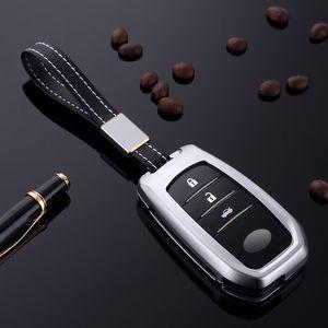 Chave do carro Caso Fob Keychain Capa Para Toyota Camry Corolla CHR CHR Prado 2018 Proteção Key Car Styling