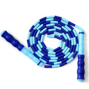 Прочная пластиковый бисера Practocal Скакалка с противоскользящей ручкой Легкой Регулируемой скакалкой Фитнес Скакалки для взрослых детей