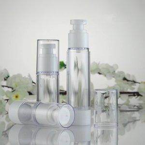 15ml 30ml 50ml Botellas de suero transparentes vacías Botellas de bomba de vacío AS Loción Sub-embotellado con crema de PP Botella sin aire