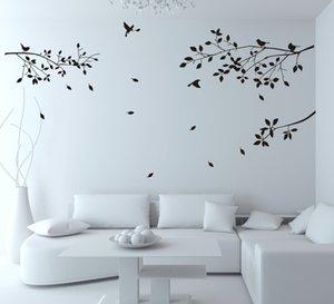 Zy8118 pájaro ramificación tallado pegatinas de pared dormitorio del fondo de la sala de la pared decorativos pegatinas impermeable Oy633