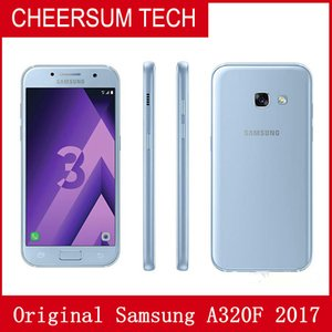 Original Refurbished Samsung Galaxy A3 2017 A320F Single SIM 4.7 inch Octa Core 2GB RAM 16GB ROM 13MP 4G LTE Android Smart Phone DHL 5pcs
