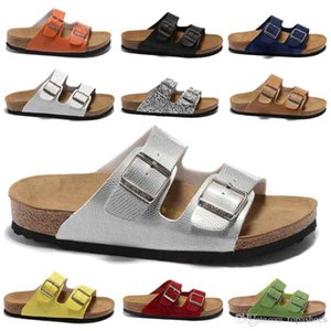 vente en gros 2019 Arizona Mayari New Summer Beach Cork Chaussons Tongs Sandales Femme Homme Chaussures Slides Casual liège plat Boulaq tongs BIRKENSTOCK