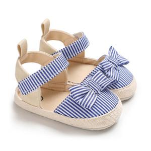 2019 Summer Newborn Bowknot Decor Shoes Soft Sole Shoes First Walkers Sandals 0-18M Girl Beach Sandals
