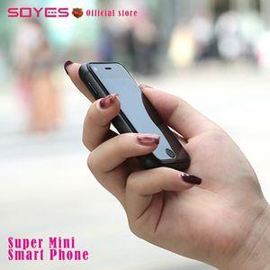 Original super mini android inteligente SOYES 7 S 6 S MTK6580 Quad Core 1 GB + 8 GB 5.0MP Dual SIM cartão de Alta Definição tela desbloqueado Mini smartphone