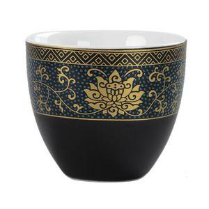 Alta Qualidade Flower Single Master Cup Gold 70ml Porcelain Tea Cup Home Decor Copos Tea Acessórios