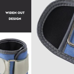 New 1 Pair 0.5kg-1.5kg Adjustable Leg Ankle Wrist Sand Bags Weights Training Sandbag Wraps Strength Fitness Equipments