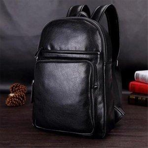 مصنع حقيبة منفذ العلامة التجارية بسيط ثلاثي الأبعاد حقيبة على ظهره الرجال الجلود الترفيه حقائب الطلاب الرجال الترفيه السفر في الهواء الطلق حقيبة الظهر