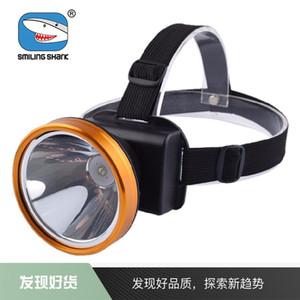 3PCS Lächeln Hai starke Scheinwerfer LED-Außennachtfischen Kopf Taschenlampe High-Power-helles Fischerei Lichter Nachtlicht
