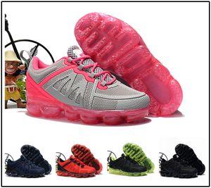 2019 bebê criança Tricô Portátil Crianças Sapatos de Corrida Crianças 2019 almofada KPU Calçados Esportivos Meninos Meninas Treinamento Sneakers