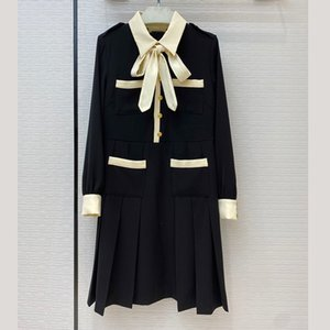 Designer Dress for Women Elegant 2020 Runway Dress A-line Casual Black Dresses Vestidos