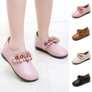 Mädchen Schuhe im Frühjahr Herbst Kinder Kind Baby Mädchen Solide Blume Student Einzelne Weiche Tanz Prinzessin Party Leder Schuhe T6 #