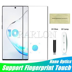 УФ-свет Nano Liquid Glue закаленное стекло телефон экран протектор для Samsung S20 Ультра Примечание 20 10 Plus S10 S9 9 Huawei P40 PRO Mate 40