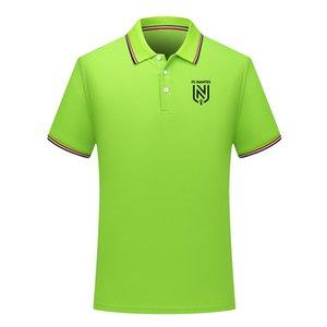 2020 estate FC Nantes nuovo cotone stile camicia di polo di calcio a manica corta bavero polo polo di calcio maglia da allenamento della camicia da uomo Polo uomo