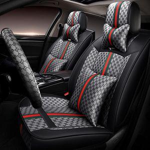 2020 nuevo lujo lino cubiertas de asientos para Toyota Corolla sedán Camry Rav4 Auris Prius Yalis Avensis de lujo de la PU de la cubierta del cuero del coche