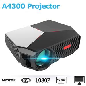 A4300 1280 * 720p Unterstützung 1080p AV, USB, HDMI-Schnittstelle mit Fernbedienung Fernbedienung für Smartphone Laptop PC Heimkino-Systeme