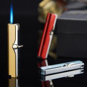 New Torch Lighter rebolo direto da gota da água Interruptor personalizados Criativos de metal à prova de vento Isqueiro Acessórios fumar