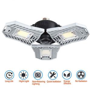 Светодиодный гаражный свет 60W E27 6000LM деформируемое потолочное освещение ультра яркие горнодобывающие лампы складской лампы с 3 регулируемыми панелями