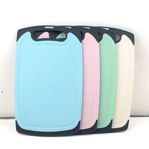 Cucina Tagliere Juice Grooves Eco-paglia di grano Tagliere BPA-Free tagliere Block Strumento di cucina in lavastoviglie JK2007KD