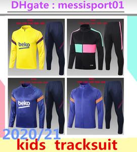 2020/2021 MESSI رياضية SUAREZ الاطفال تدريب دعوى لكرة القدم الفانيلة بيكيه 2020/21 الاطفال رياضية كيت كرة القدم قمصان BOYS تدريب ملابس
