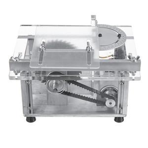 100W 100V-240V Multifuncional Mini sierra de mesa de carpintería Torno de banco de bricolaje corte de la máquina