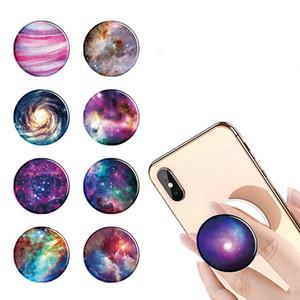 PopGrip Expansão de pé e aperto titulares Marble Epoxy de telefone celular com Swappable Top para telefones Tablets nebulosa azul