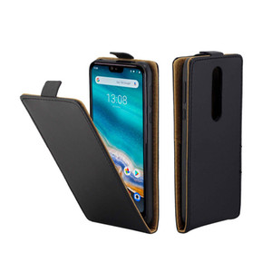 Custodie per cellulari in cuoio di business per Coque Nokia7.1 Custodia in flip verticale