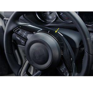 Car Styling Acessórios Para Mazda CX3 CX3 CX5 CX5 Mzada 2 3 6 2016 2017 2018 2019 ABS Fiber Chrome carbono Steering Painel Tampa guarnição da roda