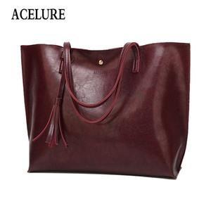 Acelure donne inverno borsa nappa borse di lusso grande capacità donne Shouilder borsa signore Hasp borse in pelle cerata olio donne Y190619