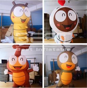 Prix usine modèle ver personnalisé gonflable pour la promotion New Humour Cartoon gonflable Larve Corée mignon de bande dessinée de