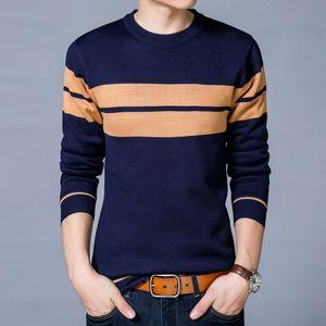 2018 Autumn new men's striped sweater men's sweater P-234