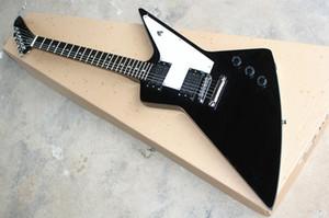 Guitare électrique de forme spéciale de forme spéciale personnalisée en usine avec pont fixe, HH Chick-ups, Hardware Chrome, peut être personnalisé