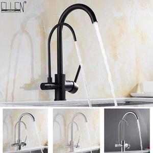 Смеситель для кухни твердый латунный кран для кухни Очищенная вода фильтр Tap Три Пути раковины Смеситель 3 Way Смеситель для кухни ELM134 T200424