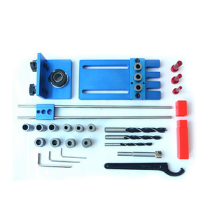 Hole Drill Guide Dowel Jig Set Woodworking Locator Tools with Drilling Bits & Depth Stop Collar
