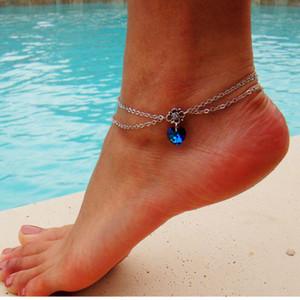 Amazzone bestseller di alta gioielleria con catena del corpo fantasia con guscio in multistrato di cristallo all'ingrosso braccialetto cavigliera personalizzato
