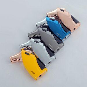 Jobon 배 토치 제트 화염 시가 라이터 창조적 인 화염 잠금 가스 리필 방풍 라이터