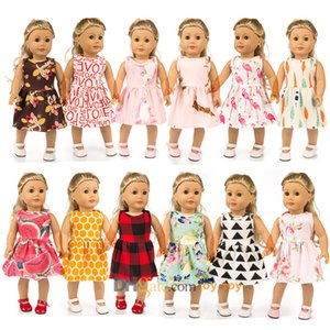 18 inch One piece dress skirt with underpants briefs 12 Styles for 18 inch American Girl Doll