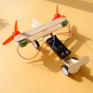Наука и технологии мелкосерийное производство Креативный Invention DIY Электрический плоскости скольжения Руководство Научный эксперимент Игрушка набор Обучение