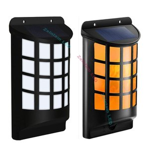 Solar Flame Lights Outdoor, Aityvert Waterproof Flickering Flame Wall Lights with Dark Sensor Auto On Off 66 LED Solar Powered Night Lights
