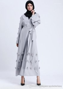 Arabian Long Robe Dresses Floral Middle East Formal Dress Ethnic Clothing Women