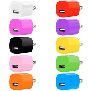 5V 1A 1000mAh US Ac adaptador de alimentação carregador de parede viagem para casa para iphone 5 6 7 8 x Samsung Galaxy S6 S7 borda telefone android mp3 player