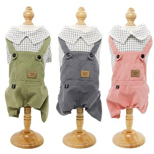 2020 spring pet new spring clothes dog four-legged clothes fake two pieces of casual suspenders clothes puppy clothing wholesale