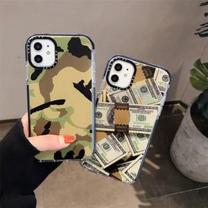 Boa imagem de camuflagem padrão Dollar Sticker label case for iPhone 11 Pro X XS MAX 7 8 6 plus soft Silicone clear cover for iphone 11
