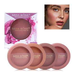 12 colores en polvo frente a la señorita Rose colorete paleta de maquillaje mate paleta de Blush contorno impermeable maquillaje bronceador facial