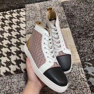 High Quality Men's & Women's Red Bottom Sneakers Printed Leather Best Casual Shoes Comfort Designer Skateboard With Box Free Shipping